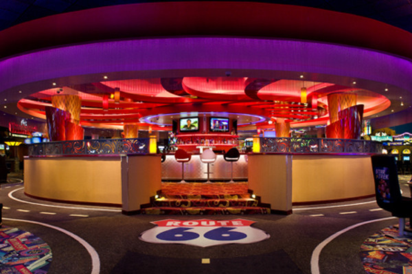 New casino construction completed of the 360 Bar at Route 66 Casino.