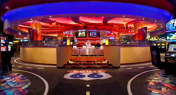 Photo of the new bar design completed for Route 66 360 Bar.